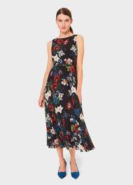 Petite Carly Dress, Black Multi, hi-res