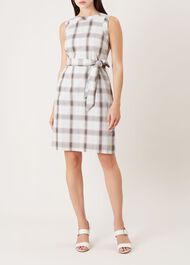 Amalfi Linen Blend Dress, Mint Multi, hi-res
