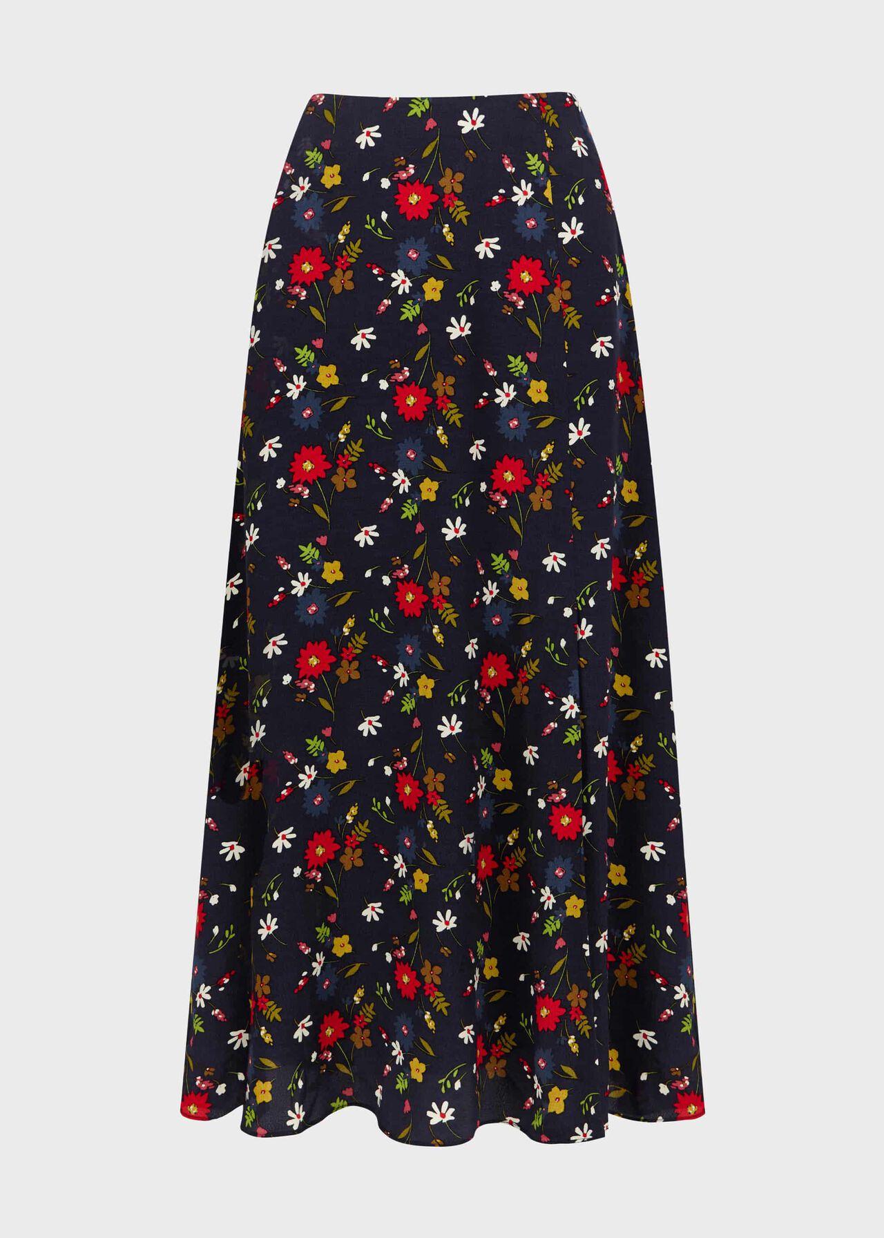 Annette Floral Midi Skirt Midnight Multi