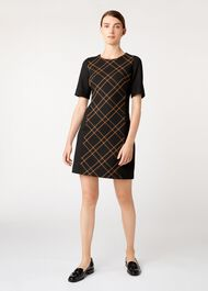 Petite Mari Dress, Black Camel, hi-res