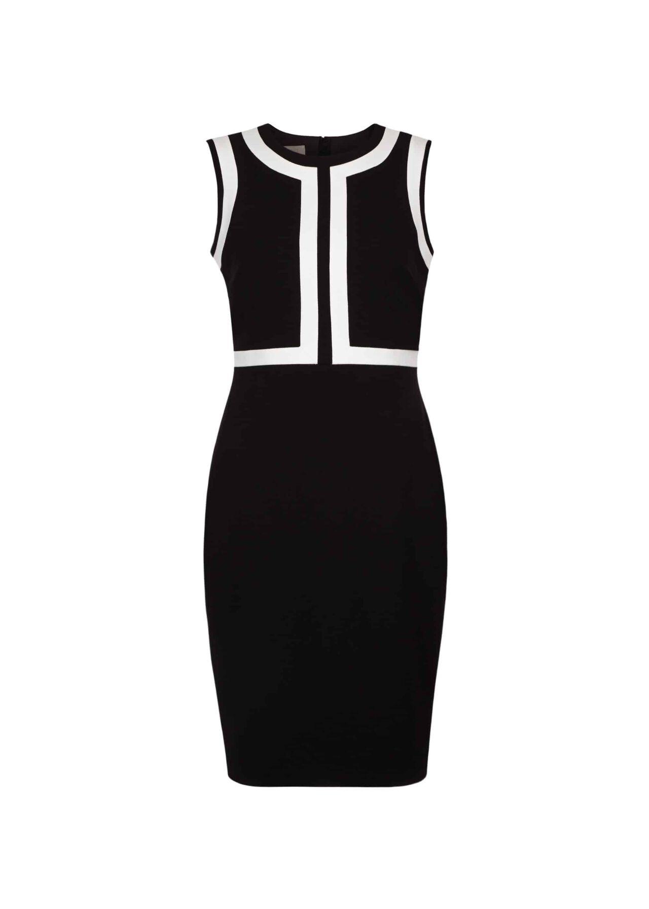 Jackie Dress Black Ivory