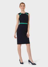 Petite Nala Dress, Navy Green Ivry, hi-res