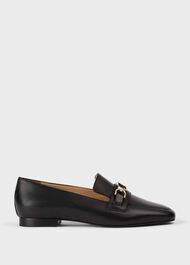 Alexia Leather Loafers, Black, hi-res