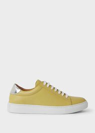 Hollie Leather Trainers, Citron, hi-res