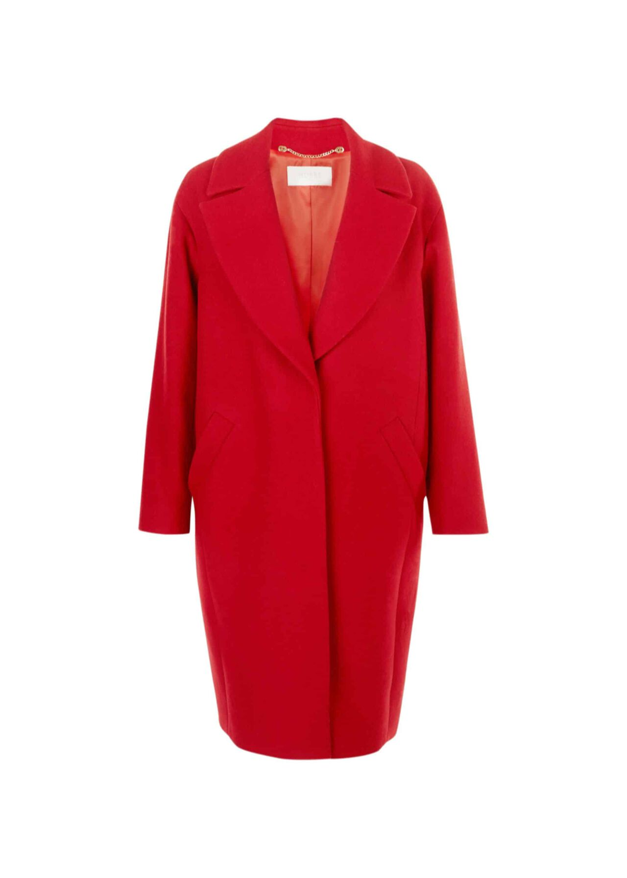 Jane Wool Blend Coat Deep Red