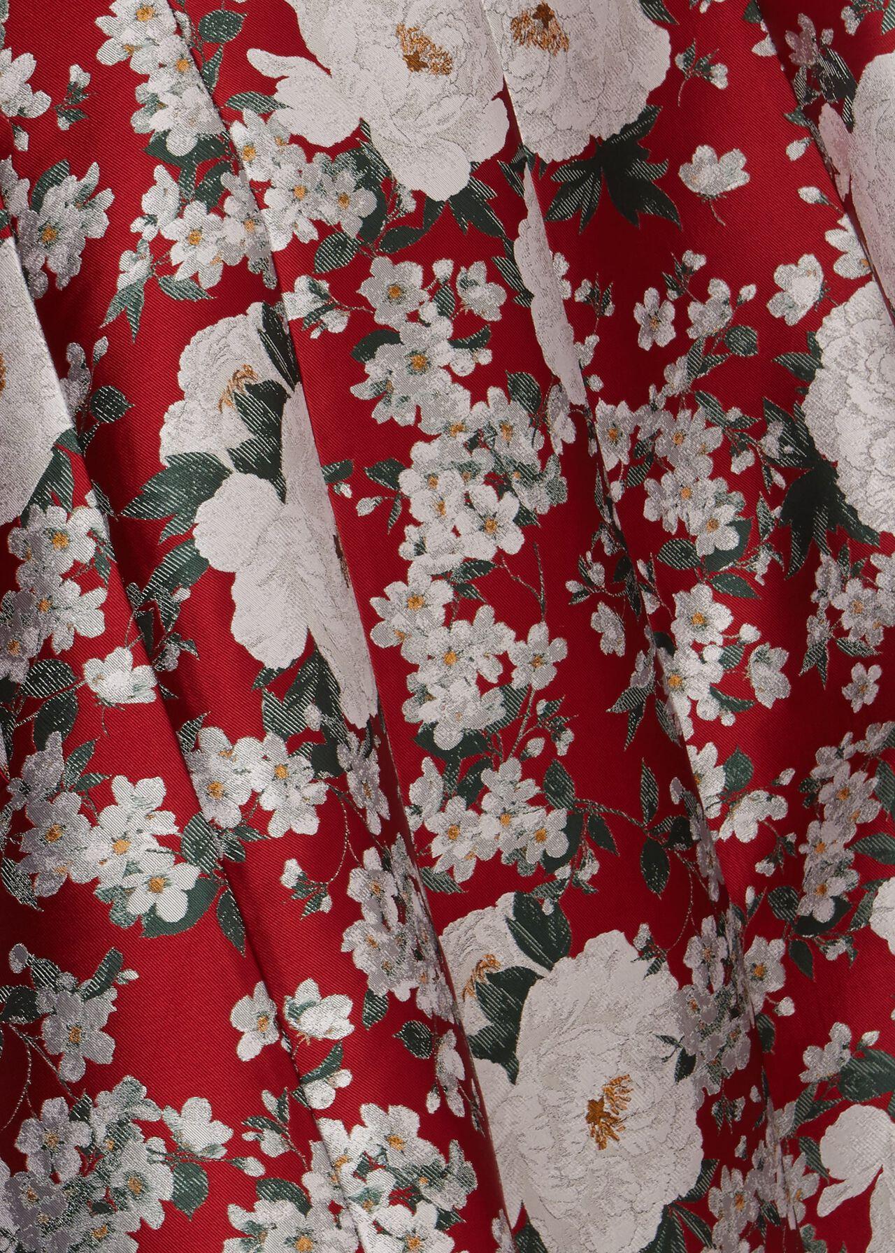 Dora Jacquard Coat, Red Multi, hi-res