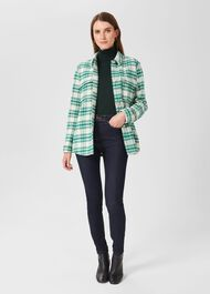 Pia Check Shirt Jacket, Ivory Multi, hi-res