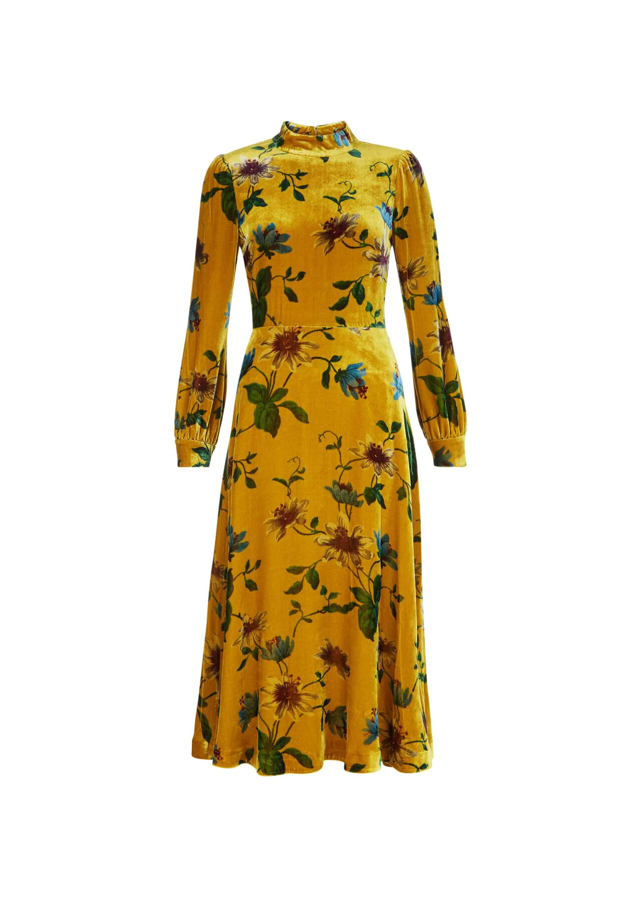 Exotics Velvet Dress Ochre Multi