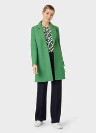 Petite Camellia Coat, Green, hi-res