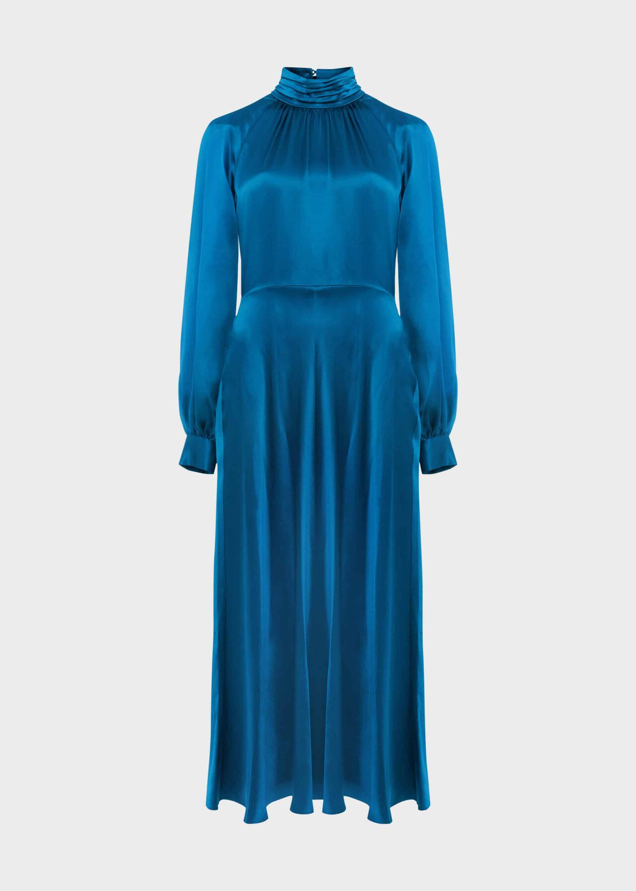 Haisley Silk Dress Kingfisher Blue