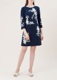Sunny Dress, Navy Ivory, hi-res
