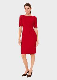 Geraldine Dress, Red, hi-res
