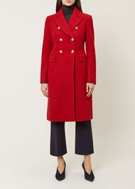 Gigi Wool Blend Coat, Red, hi-res