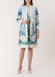 Hydrangea Coat, Blue Multi, hi-res