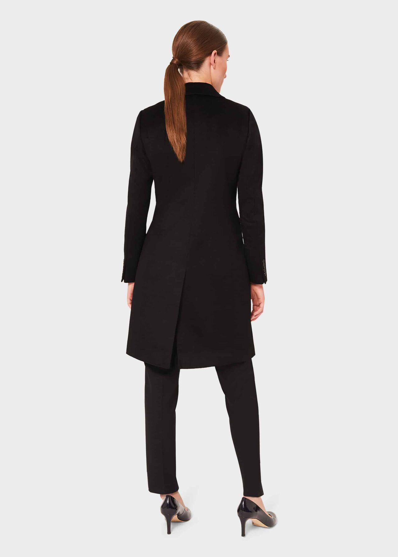 Petite Tilda Wool Collar Coat, Black, hi-res
