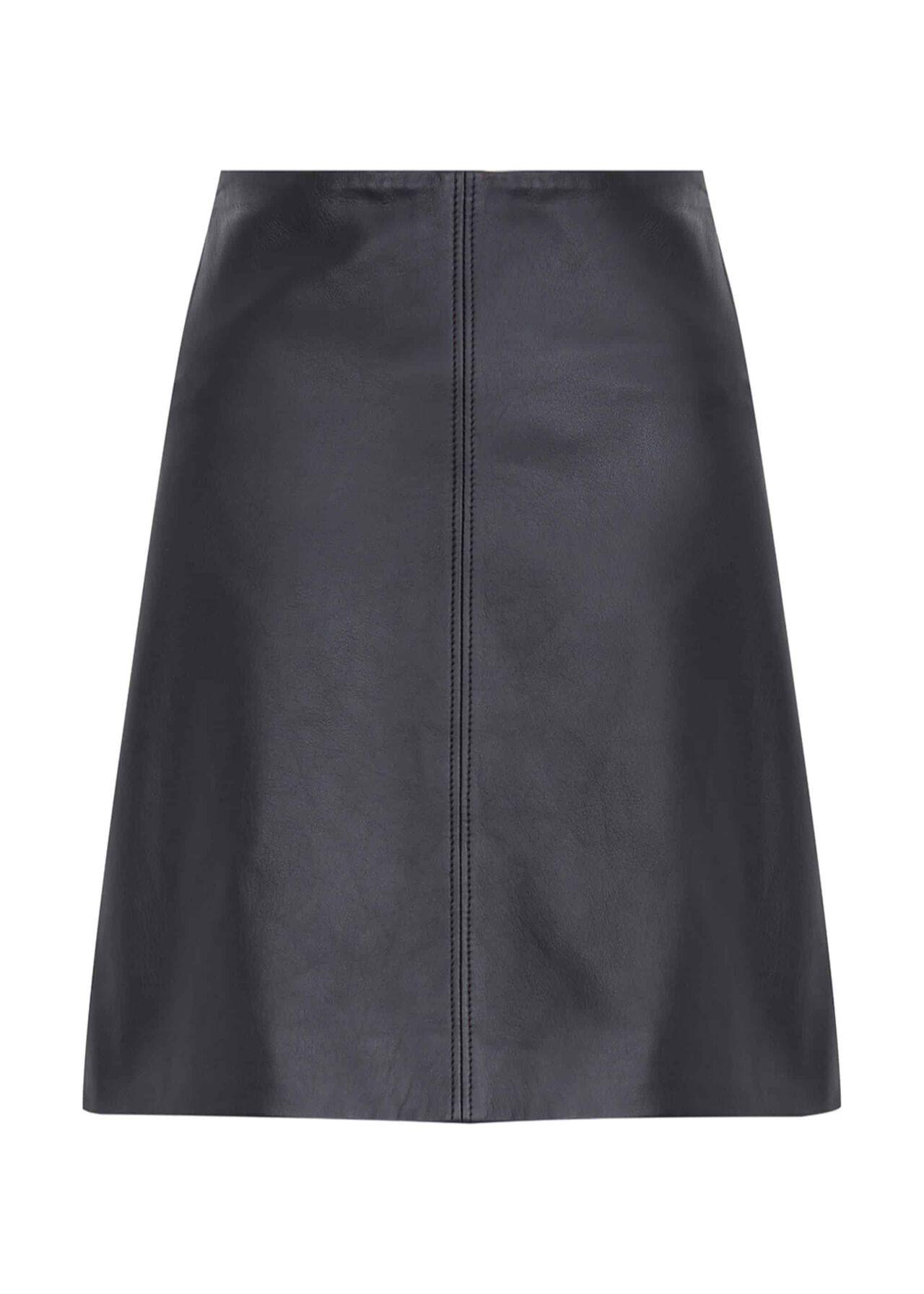 Jenny Leather Skirt Black