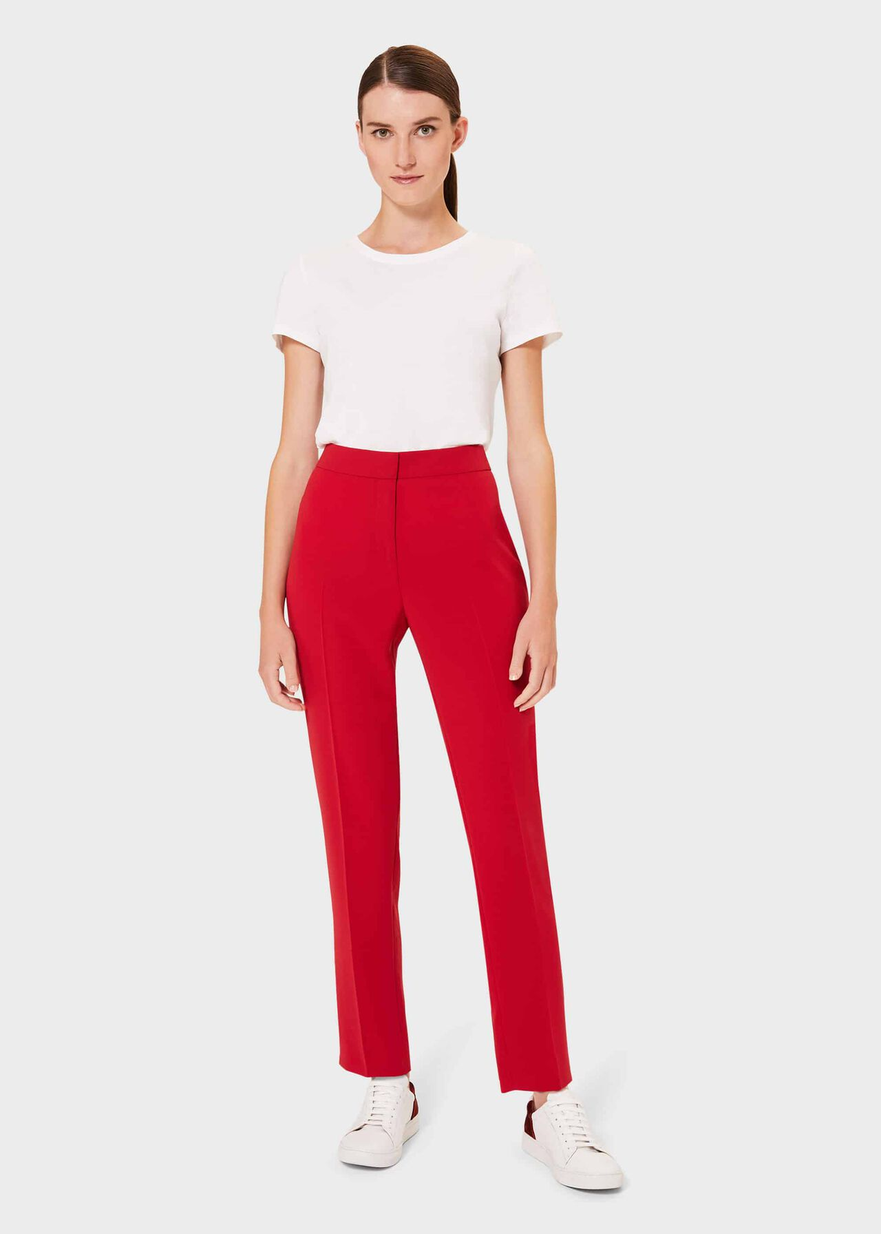 Zinnia Tapered trousers, Red, hi-res