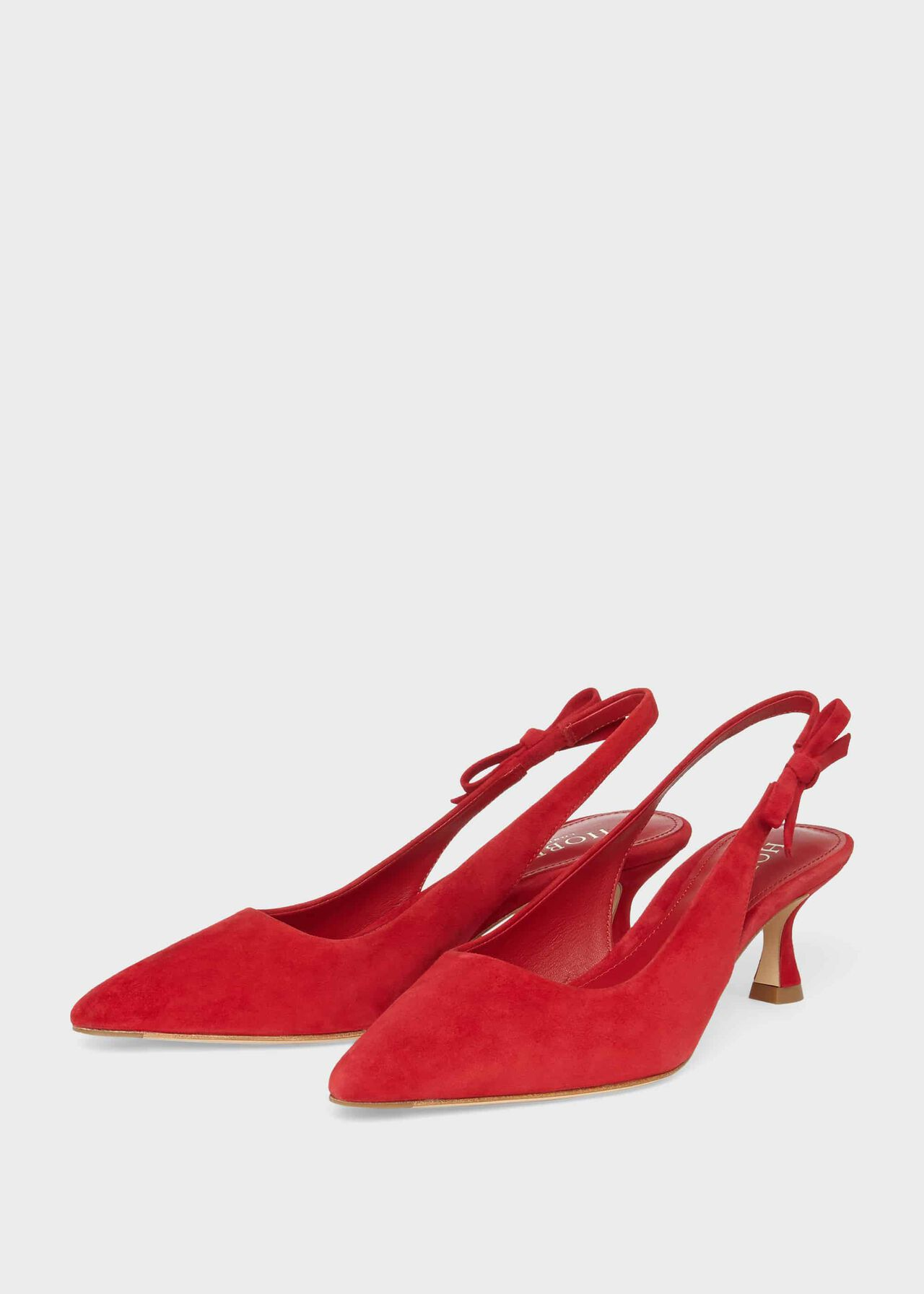 Julia Suede Slingback Shoes Poppy Red