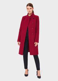 Petite Maisie Wool Blend Coat, Dark Raspberry, hi-res