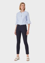 Pavilion Cotton Blend Slim Chinos With Stretch, Navy, hi-res