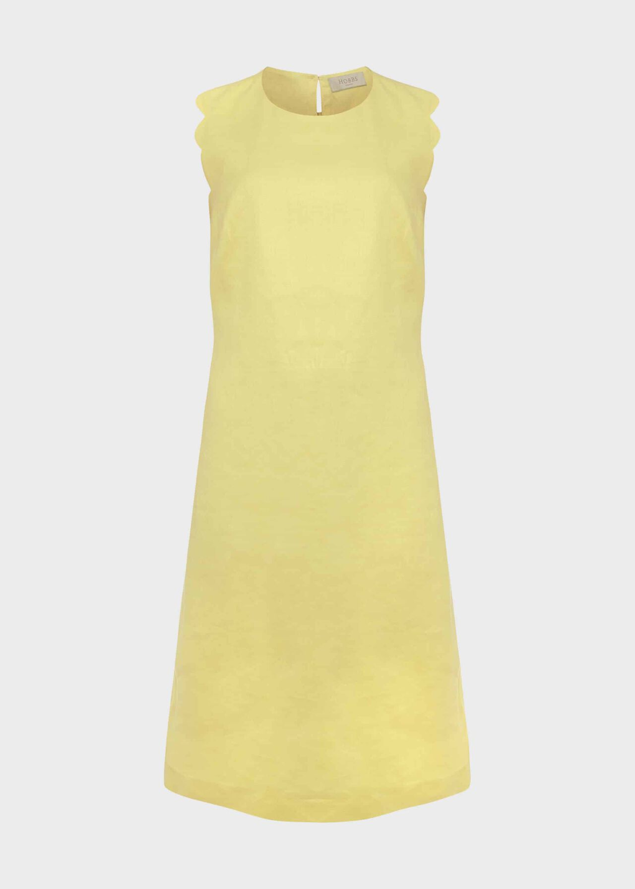 Kira Linen Shift Dress, Yellow, hi-res