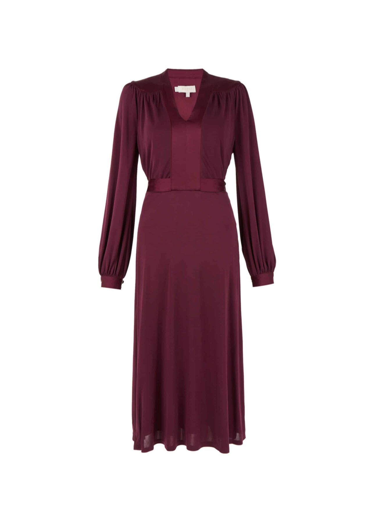 Aida Jersey Dress Burgundy