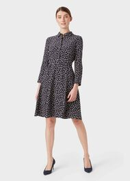 Petite Emberly Dress, Navy Buttrcream, hi-res