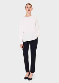 Kate Puff Sleeve Blouse, Ivory, hi-res