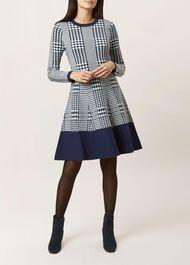 Callie Dress, Navy Ivory, hi-res