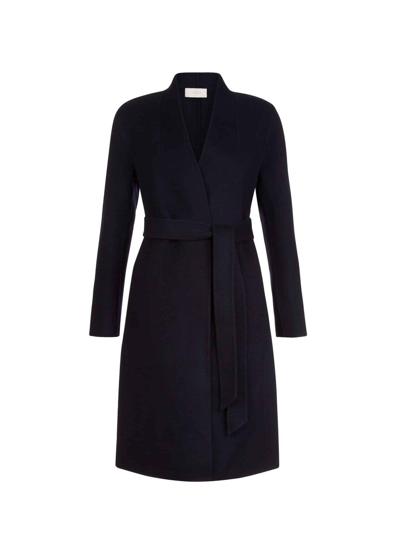 Elisa Wool Blend Coat Midnight