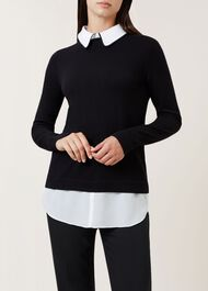 Ellis Sweater, Black Ivory, hi-res