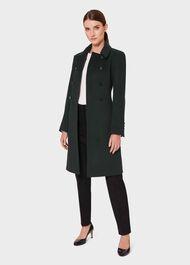 Sylvia Wool Blend Coat, Fern Green, hi-res