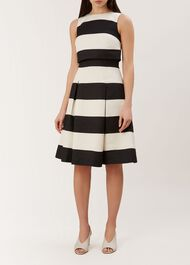 Emma Dress, Black Ivory, hi-res