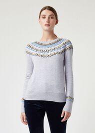 Greta Sweater, Grey Multi, hi-res