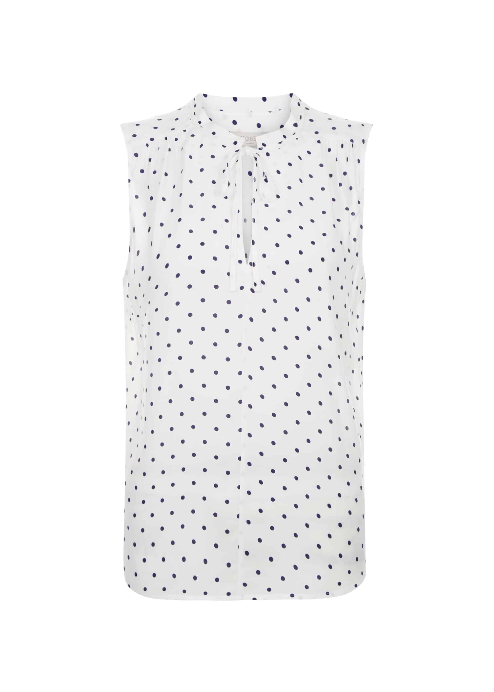 RRP £69. Various Sizes Hobbs Kate Ivory Navy Blouse