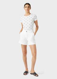 Pixie Cotton Printed T-Shirt, White Navy, hi-res