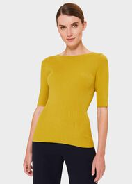 Florence Sweater, Chartreuse Grn, hi-res