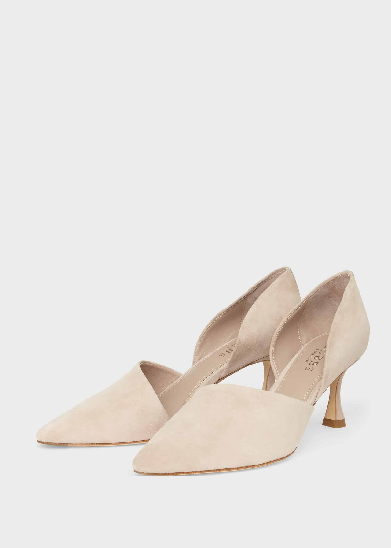 Maya Suede D'Orsay Court Shoes Pale Oyster