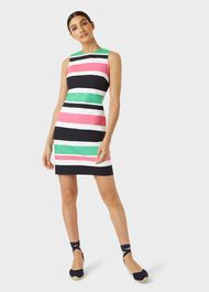 Alya Cotton Blend Stripe Shift Dress, Multi, hi-res