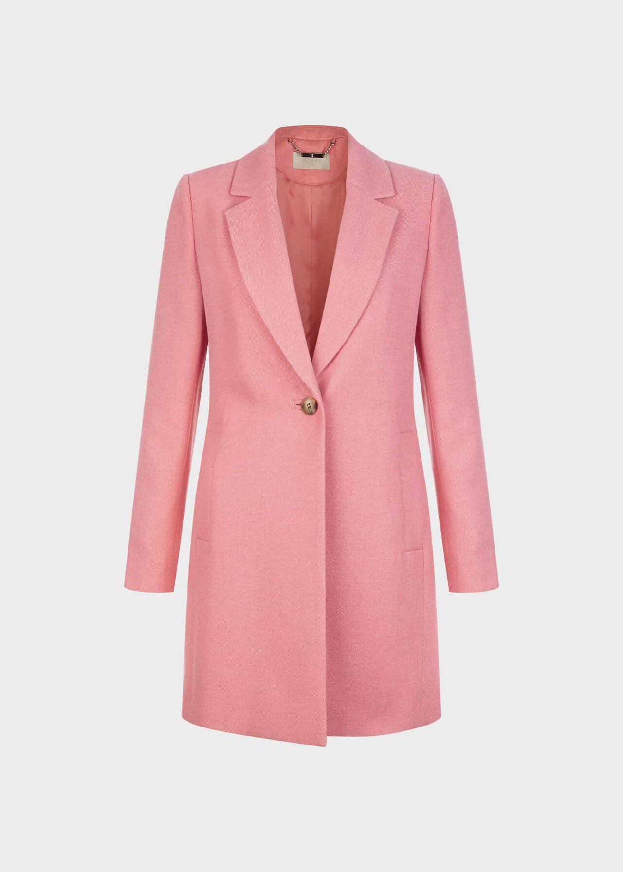 Petite Camellia Coat Bubblegum Pink