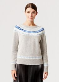 Layla Merino Wool Blend Sweater, Grey Multi, hi-res