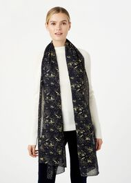 Laura Scarf, Navy Gold, hi-res