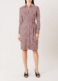 Sandrine Dress, Ivory Multi, hi-res