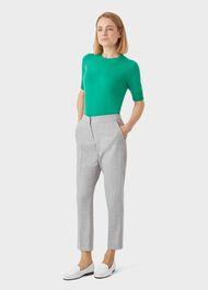 Aneta Wool Trouser, Grey, hi-res