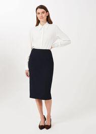 Beatrice Pencil Skirt , Navy, hi-res