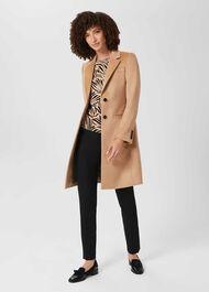 Petite Tilda Wool Coat, Camel, hi-res