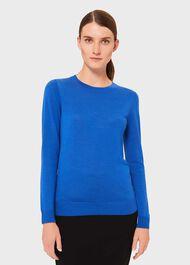 Penny Merino Wool Sweater, Cobalt, hi-res