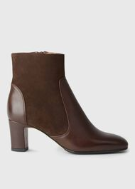 Patricia Zip Boot, Chocolate, hi-res