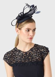 Blair Fascinator, Navy, hi-res