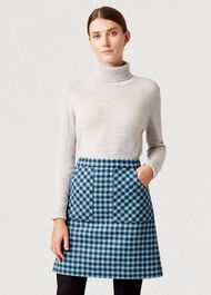 Elodie Wool Skirt, Kingfisher Mult, hi-res